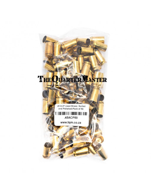 .45 ACP Used Brass: Sorted and Polished-Pack of 50