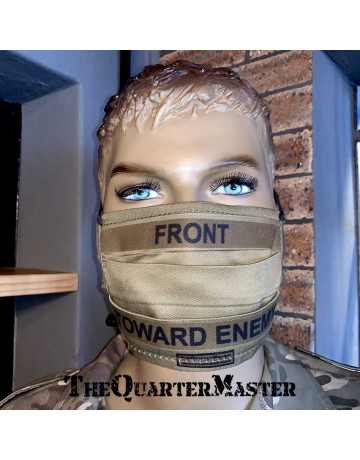"Face Mask: Reusable - ""Front Toward Enemy"""