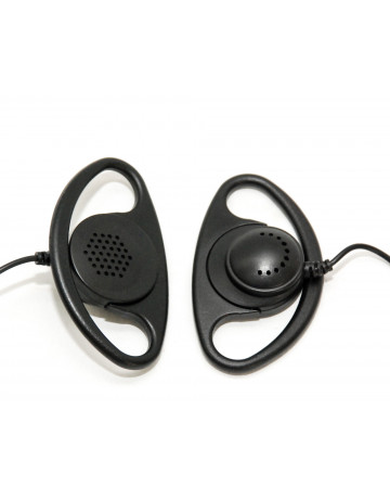D Type Earpiece with Inline Mic: Motorola -CP Series