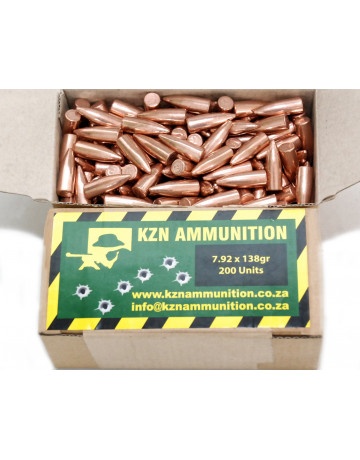 KZN Ammo 150gr .308 CMJ Bullets: Pack of 200