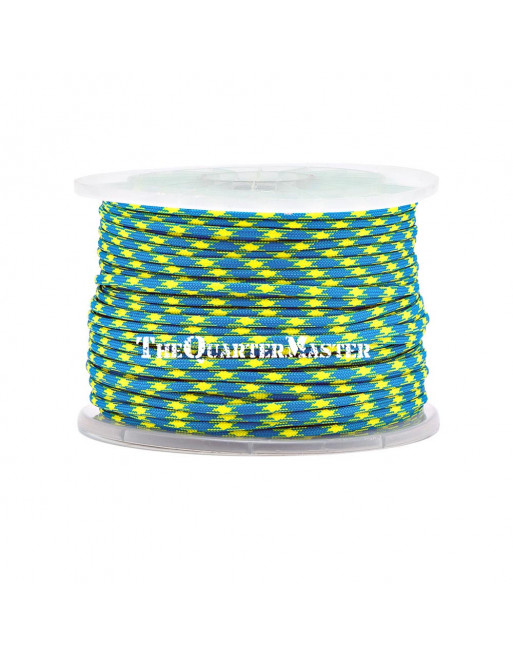 550 Paracord Reel 100m - Blue & Yellow