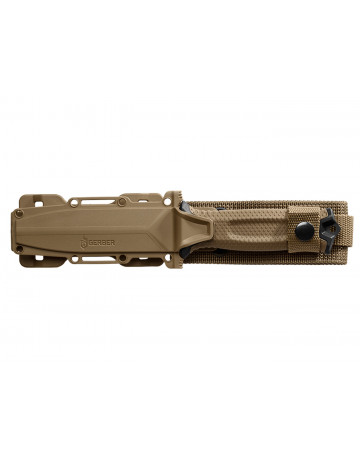 Gerber StrongArm Fixed Blade Knife: Coyote with Serration