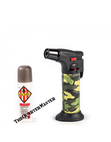 Hyper Flame Gas Torch ZT50 with Refill : Forest Camouflage Pattern.