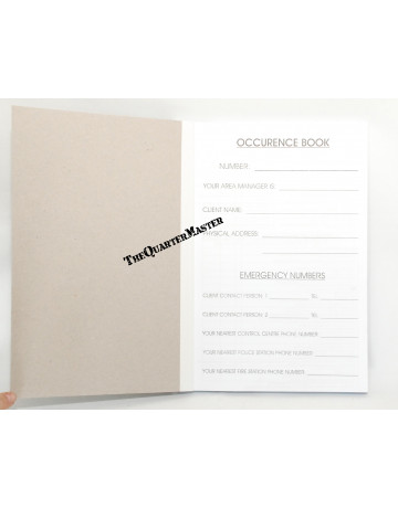 Occurrence Book