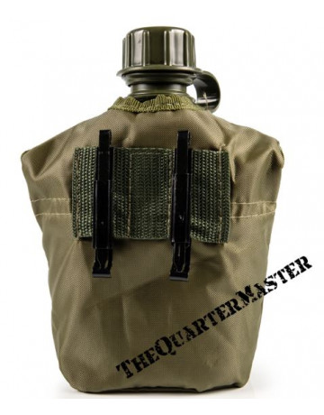 Water bottle with cover pouch and fire-bucket