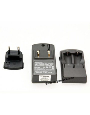 Rechargeable Lithium CR123 Battery Charger Kit.