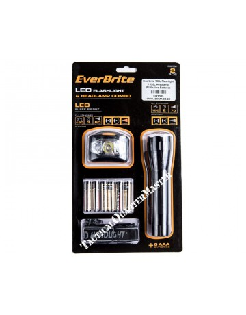 Everbrite 150L Flashlight / 120L Headlamp W/Alkaline Batteries