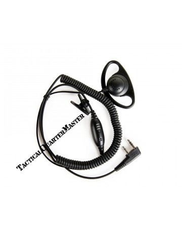 D Type Earpiece with Inline Mic.