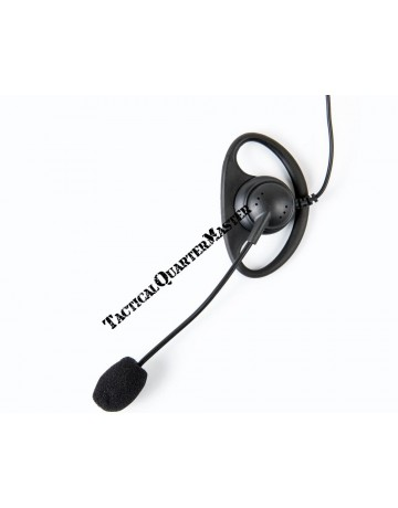 D Type Earpiece with inline Boom Mic: Kenwood
