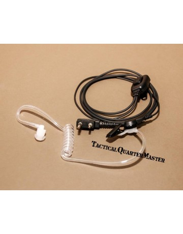 Covert Acoustic ear-tube with in-line mic