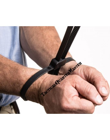 FlexiCuffs-MegaTies: Prisoner Restraints - 5 Pack
