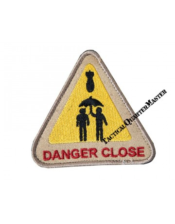 Bushveldt Danger Close Patch Black with Yellow & Red